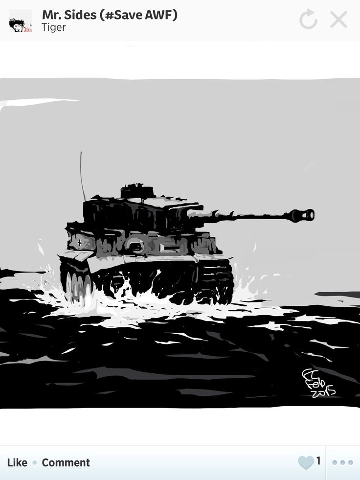 """""""Achtung! Vier amerikanische Sherman Panzer auf 9 Uhr! 1500 Meter! Dann lasst uns die mal schnell aufmischen!""""  """"Attention! 4 American Sherman tanks spotted at 9:00 o'clock and 1500 meters away! Let's rough them up quickly!""""  Did this drawing as another tribute to """"Fury"""" the movie."""