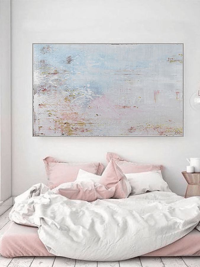 A visual guide in incorporating abstract art in modern interiors, featuring contemporary British painter Jessica Zoob.