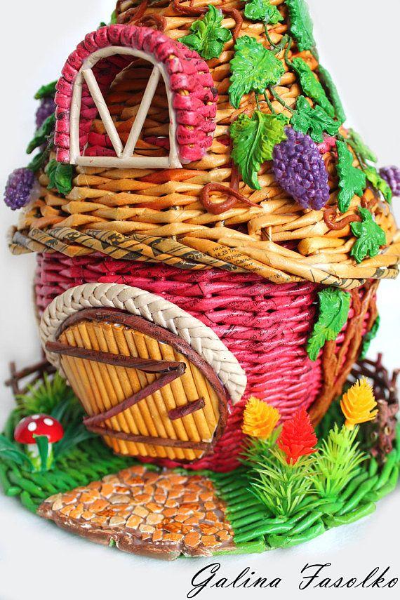 A toy house/ Fairy house Idea for a gift /Miniature Dollhouse/