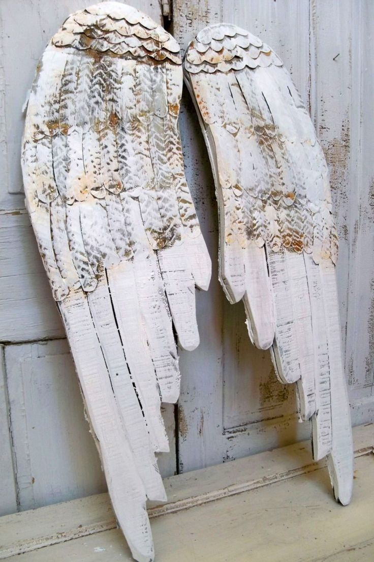 Best 25 wooden angel wings ideas on pinterest angel wings wall reserved listing large wooden wings white angel wall sculpture hand painted rusty metal distressed home decor anita spero amipublicfo Gallery