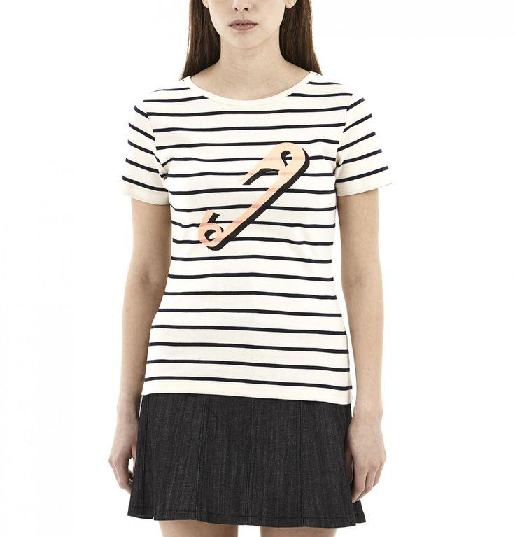 Beige Paperclip T-Shirt