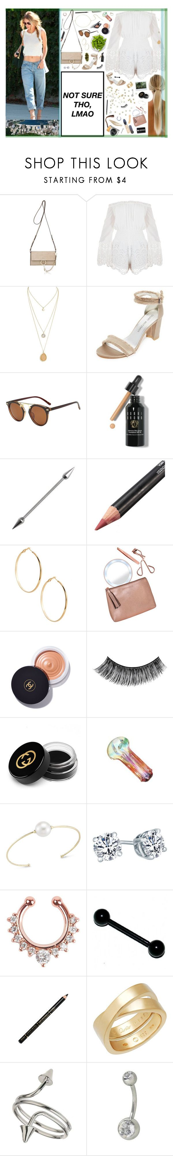 """4/25 ♡ You got that healing that I want. Just like they say it in the song, until the dawn, let's Marvin Gaye and get it on."" by xomissvolker ❤ liked on Polyvore featuring Chloé, Stuart Weitzman, Bobbi Brown Cosmetics, GUESS by Marciano, Tweezerman, Chanel, eylure, Gucci, mizuki and ULTA"