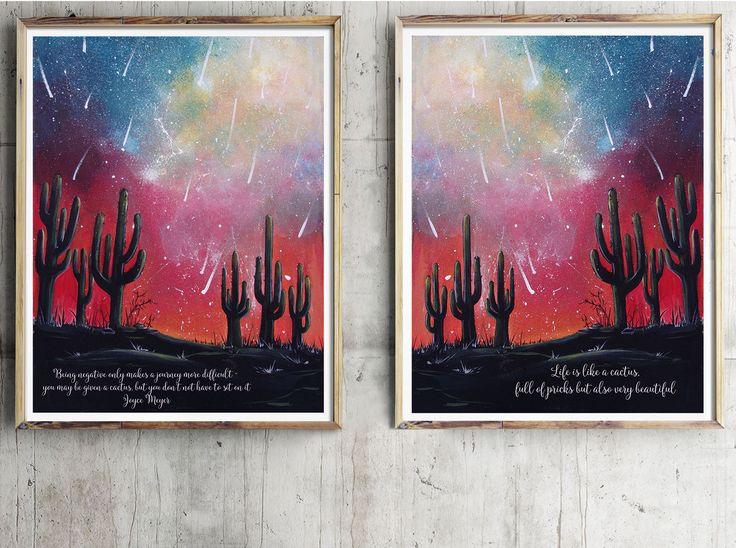 Pianta di cactus, Decorazioni murali, Stampe per pareti, Stampe da parete, Quadri stampe, Stampe Botaniche, Stampe Murali, Stampe digitali
