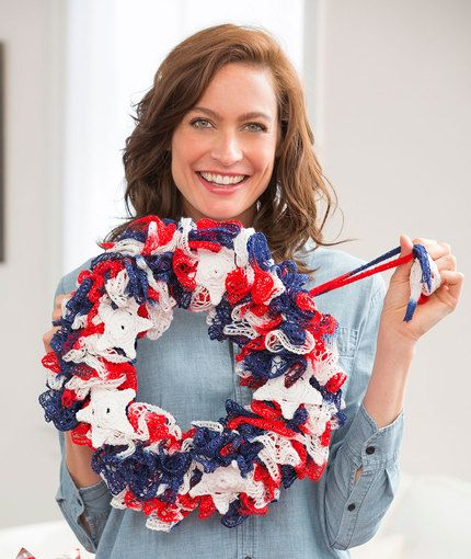 Hang with Pride Wreath Free Crochet Pattern in Red Heart Yarns