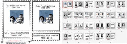 Free Montessori Helper Nobel Peace Prize Winners --- Sept. 21 International Day of Peace and World Gratitude Day