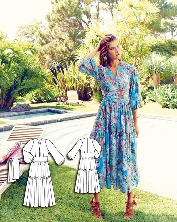 Gypsy Dress 07/2015 #111 http://www.burdastyle.com/pattern_store/patterns/gypsy-dress-072015?utm_source=burdastyle.com&utm_medium=referral&utm_campaign=bs-tta-bl-150629-SummerofLove111