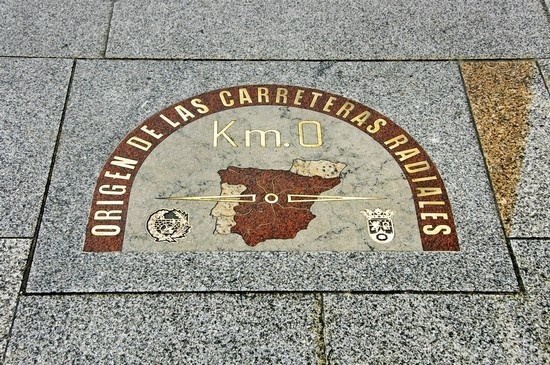 Madrid - Puerta del Sol Kilometer 0, the spot from which all distances are measured in Spain.