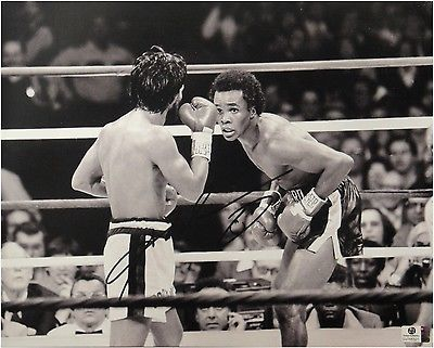 Sugar Ray Leonard Hand Signed Autographed 11x14 Photo Boxing GA 766321