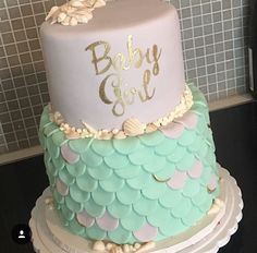 Mermaid theme baby shower for a Mom to be expecting a little girl!