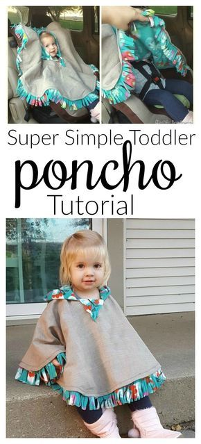 EASY Fleece-lined poncho for infant car seats with hood | Reality Daydream # sew #p …   – Crafts