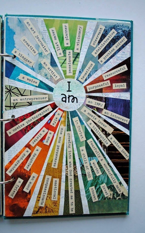 I love this not only for an art journal but as an ongoing activity with my kids.  Who are we?
