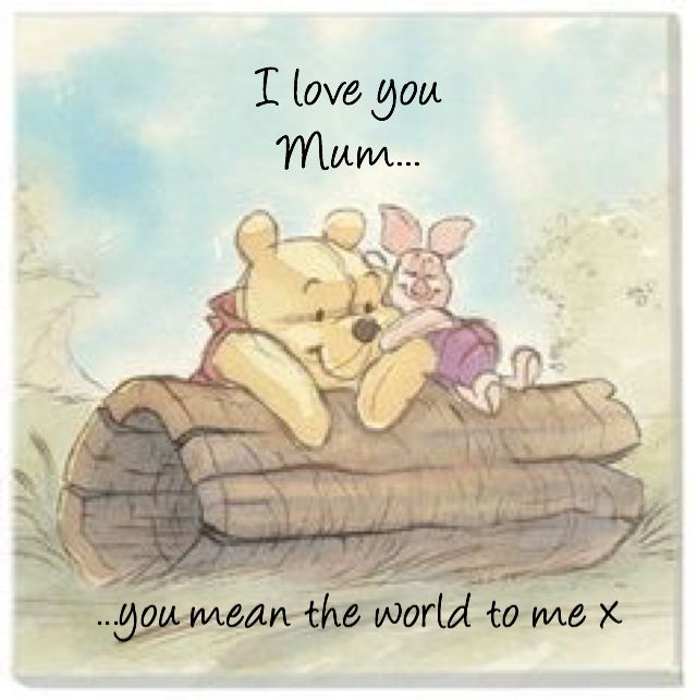 I Love You Mum Pooh N Piglet I Love You Mum Fb Quote Cool Words