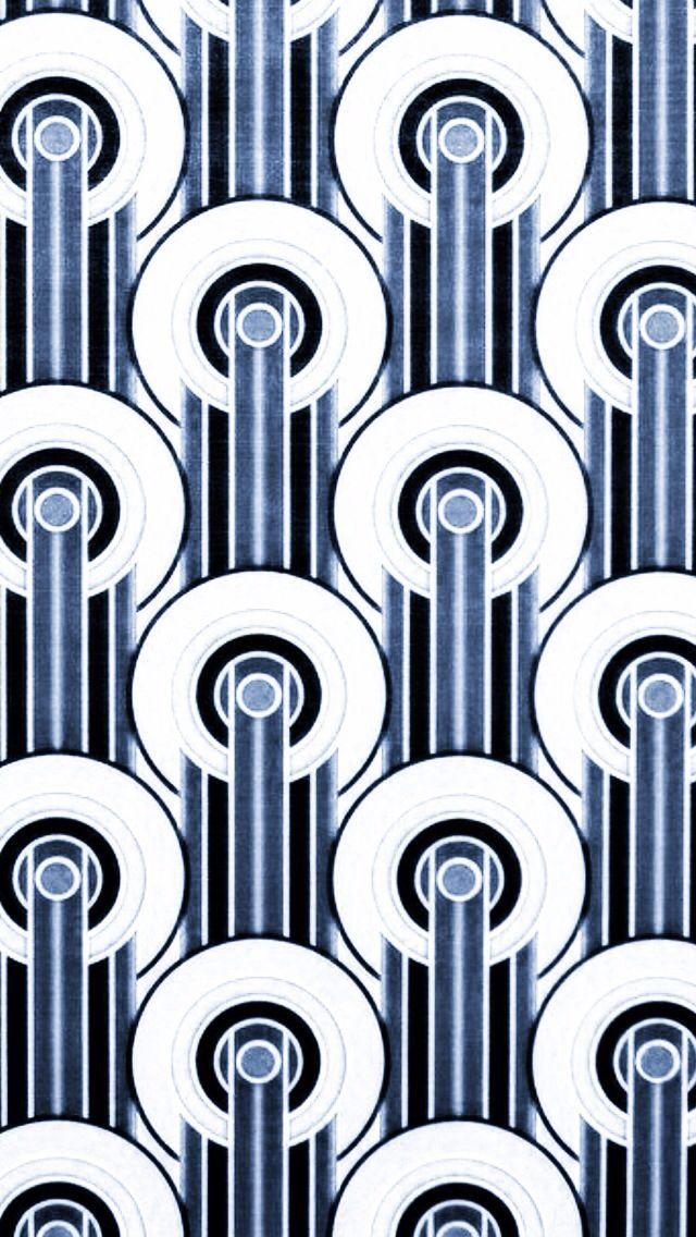 Art Deco Design blue black