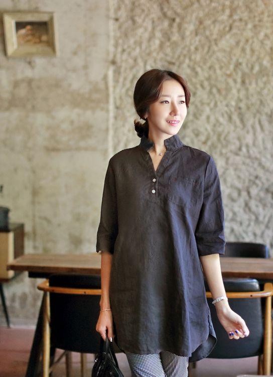 Republic of Korea reigning Women's Clothing Store [CANMART]    #koreafashionshop #fashion_insta  #instaclothes #instashop #Fashion_women #goodquality #goodfabric #korea #dailylook #dailyfashion  #daily_shirts #missy_shirts #korea_shirts #boxy_shirts  China linen long shirt / Size : FREE / Price : 41.09 USD