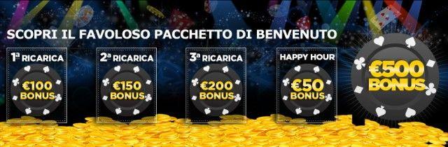 888 Casino mette a disposizione degli utenti un pacchetto di benvenuto incredibile. Una volta che vi iscriverete al casinò potrete godere di un #bonus di 500€ sul deposito iniziale!
