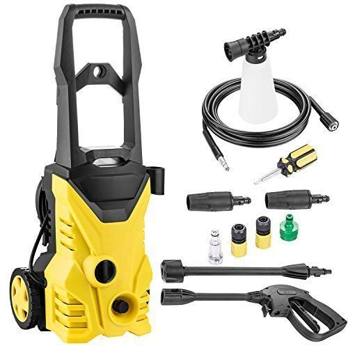 Portable Cleaner Electric Pressure Turbo Washer Hose Nozzle Gun & Soap 2000 PSI #CleanerElectricPressureTurboWasher
