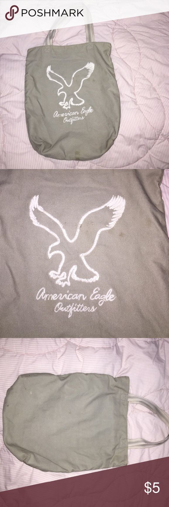 Grey American Eagle tote Grey American Eagle tote bag. Faded in color and slight marks and imperfections. Bags Totes