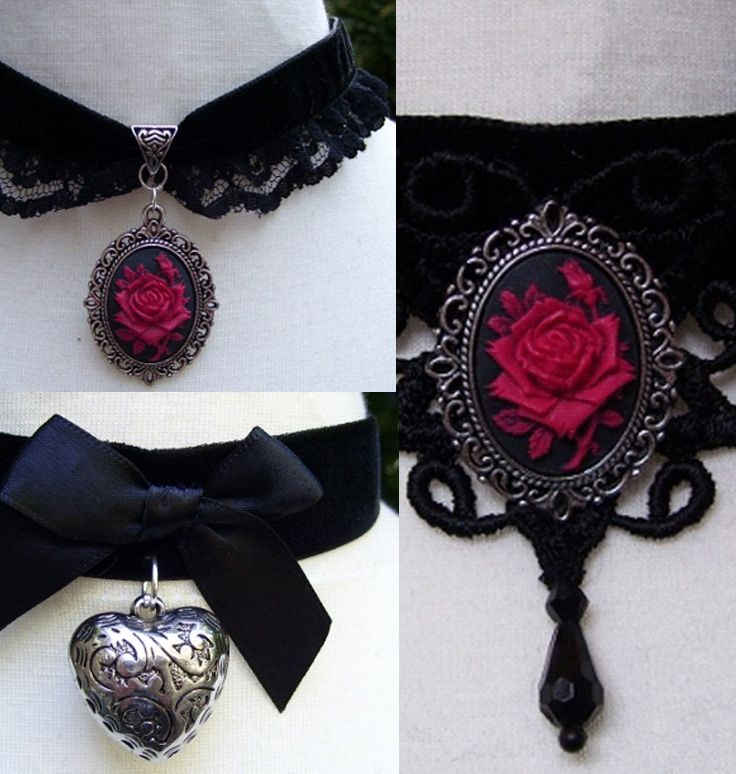 Shop heart cameo gothic chokers at RebelsMarket!
