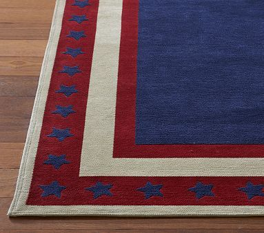 Star Bordered Rug Perfect For An Avenger S Superhero