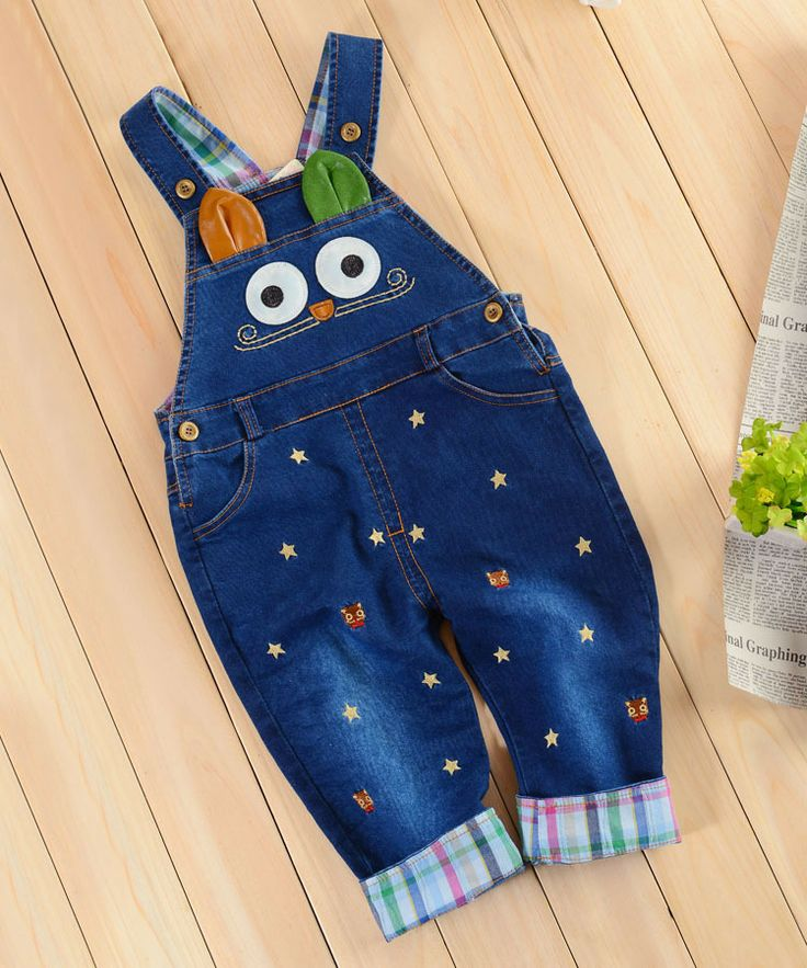 NEW Design 2014 Baby Rompers Cute Animal Washed Denim Overalls Child Baby Outwear Bebe Coveralls Kids Boys Jeans Jumpsuits-inGirls from Appa...