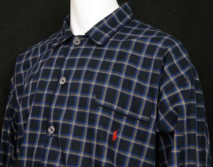 Polo Ralph Lauren Sleepwear Long Sleeve Nightshirt Plaid 100% Cotton L/XL NWT #PoloRalphLauren #Nightshirt