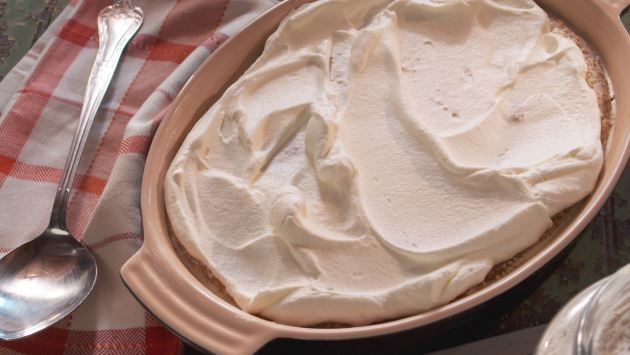 Get Hasty Pudding with Whipped Cream Recipe from Food Network