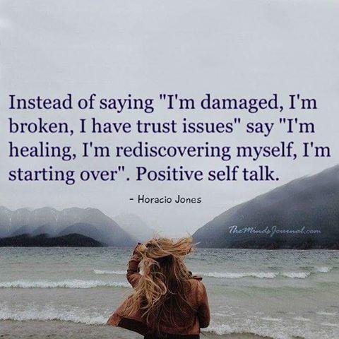 Positive self talk!