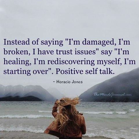 Positive self talk!