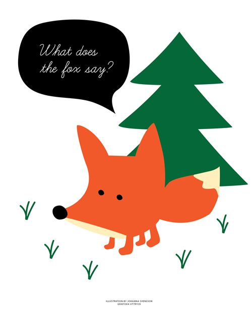 What does the fox say? Illustrated Fox by Johanna Svensson Grafiska Uttryck