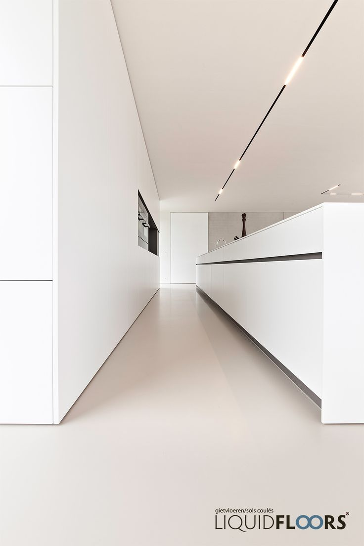 The all white kitchen with great lining