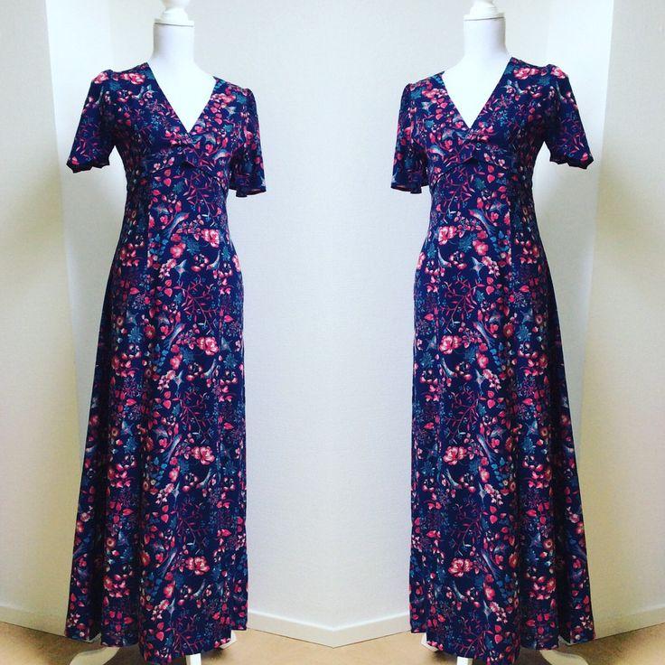 NALANI Cotton Print Maxi Dress with Front Split