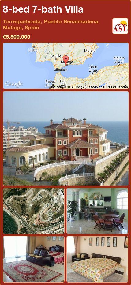 8-bed 7-bath Villa in Torrequebrada, Pueblo Benalmadena, Malaga, Spain ►€5,500,000 #PropertyForSaleInSpain