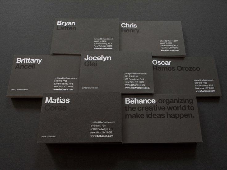 Behance Business Cards on Behance