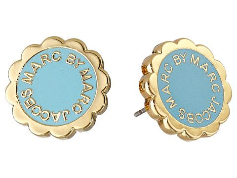 Marc by Marc Jacobs Marc by Marc Jacobs  Enamel Scalloped Logo DiscO Studs Earrings Sea Aqua Earring for 29.99 at Im in! #sale #fashion #I'mIn