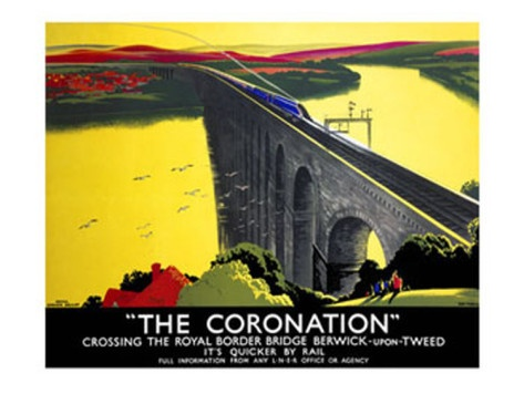 The Coronation, LNER Poster, 1923-1947.   by Tom Purvis.