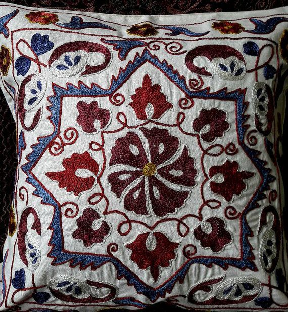 Suzani handmade pillow pillowcasepillow cover by SuzaniUzbekistan