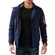 Mens Tactical Military Multi-Pockets Fleece Hooded Outdoor Jacket for Winter - NewChic Mobile