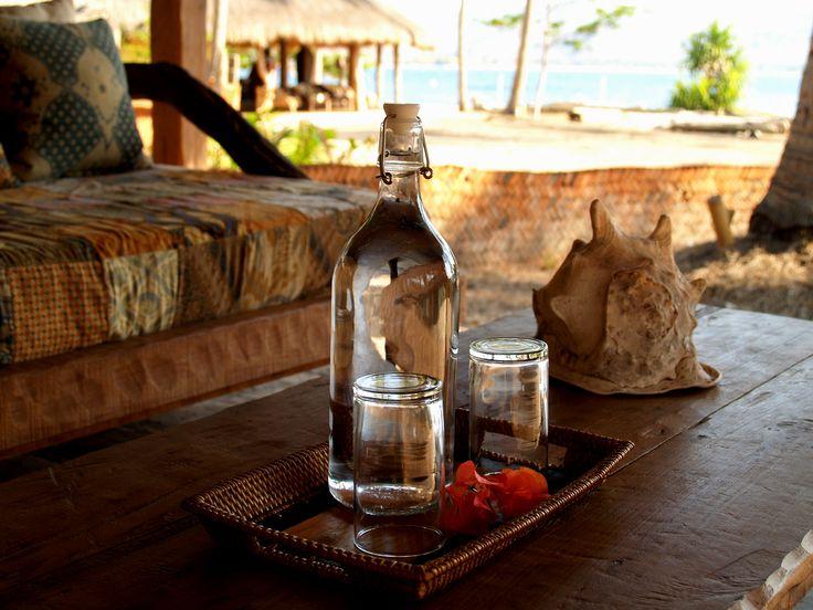 Bottle in the Bungalow Gili Asahan Eco Lodge & Restaurant Glass