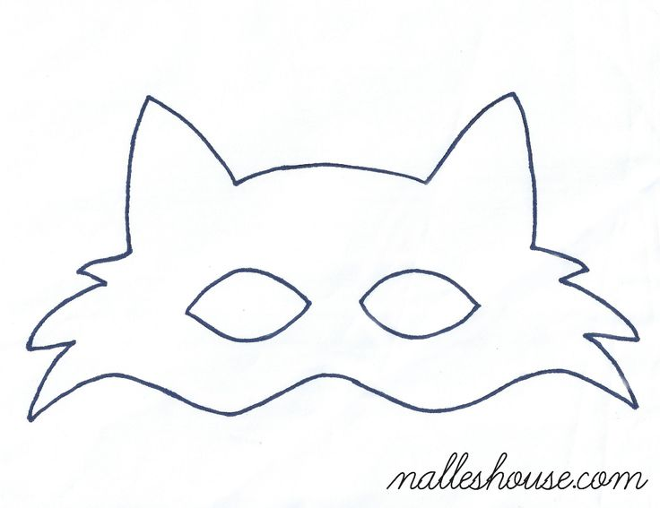 template of a fox - fox mask template sewing projects pinterest mask