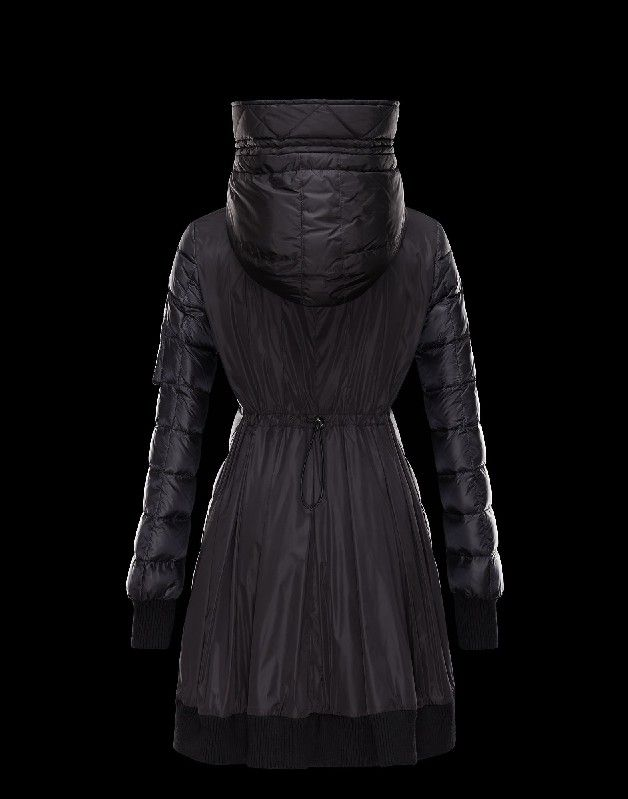 Moncler Coat in ultralight nylon with a shiny appearance. Rib knit hem and  cuffs.