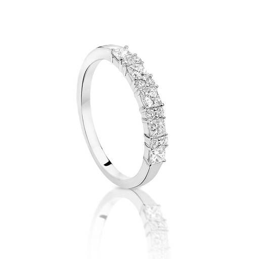 Worn as a wedding band or a dress ring this Diamond band is a show stopper!   9ct White Gold Diamond Ring