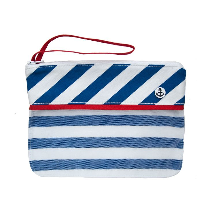 naval mujbag Ahoj from 100% cotton will keep all your make up in one place