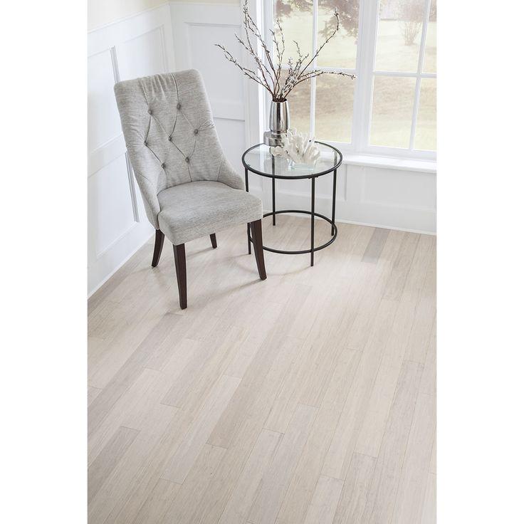 "Islander Flooring 3-5/8"" Solid Bamboo Hardwood Flooring in White"