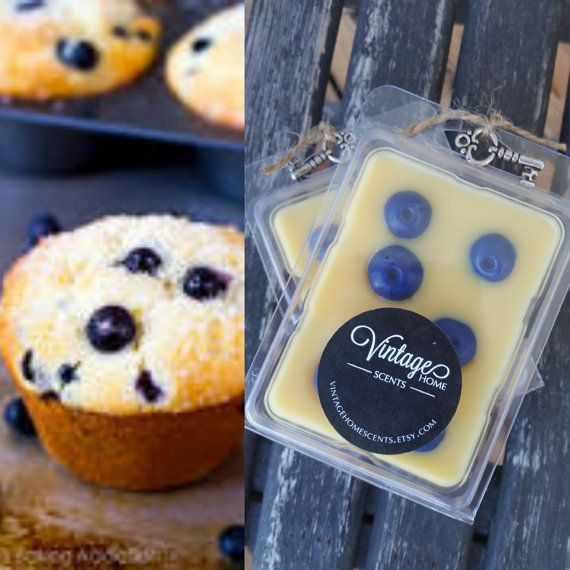 Blueberry Muffin Soy Wax Melts by VintageHomeScents on Etsy