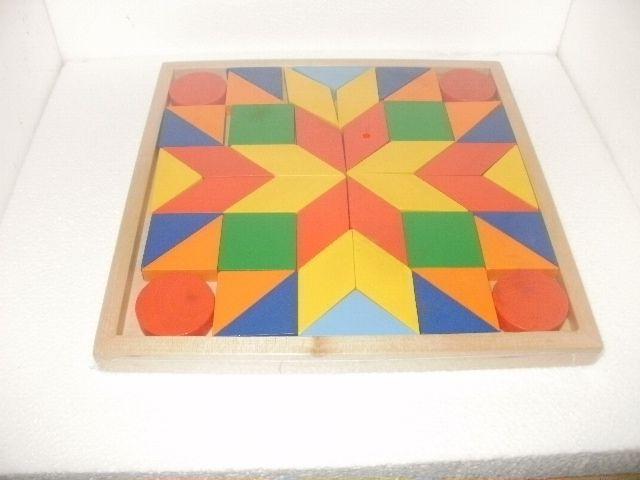 bellissimo puzzle mosaico in legno