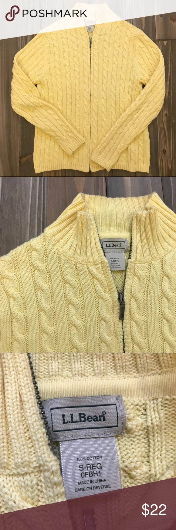 "Eddie Bauer Cotton Cardigan size S A super lemon yellow. Size S. Pre-loved and in good shape. 100% Cotton. Shoulder to hem: 21"", outer sleeve: 23"", pit to pit: 18"".   Note the 2nd pic is the best indicator of its color.   Shop smart by maximizing your shipping $. Use the filter function and peruse my closet of over 1,000 items! Bundle and save!!    SW3 Eddie Bauer Sweaters Cardigans"