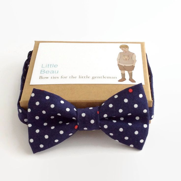 Boys Bow Tie- Navy Spot Little Beau $29.00