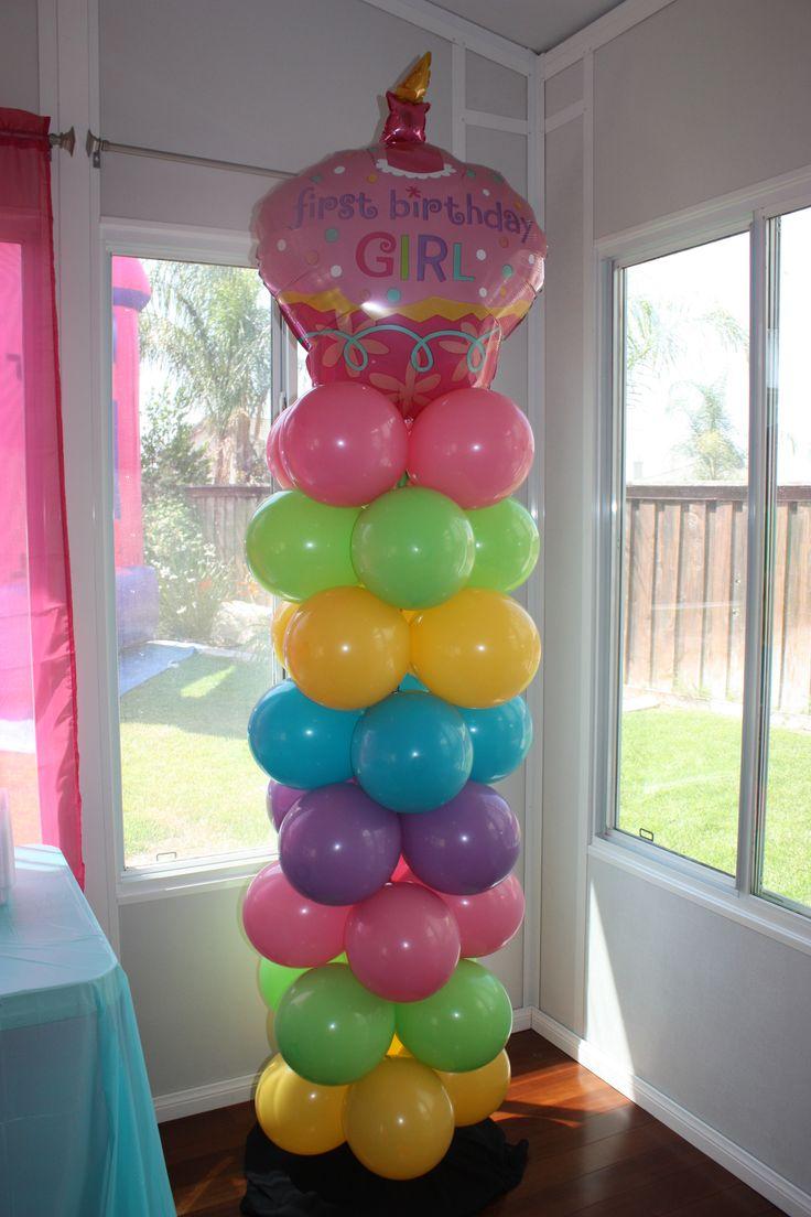 Diy balloon columns - I Like The Balloon Tower Idea