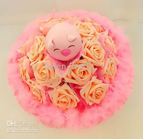 Aliexpress Com Buy Home Utility Gift Birthday Gift Girlfriend Gifts Diy From Reliable Gift Diy: 8 Best Piggy Flower Bouquets Images On Pinterest