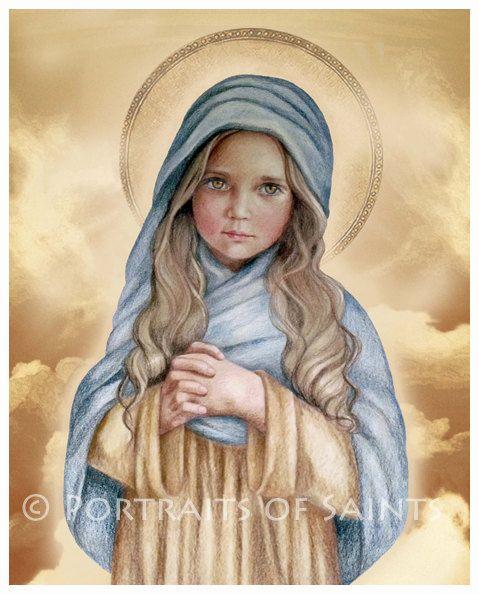 Mary catholic art prints blessed mary catholic art blessed virgin